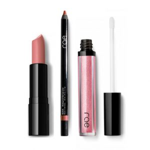 lipliner, ultra moisturizing lipstick and sparkling Liquid Light Lipgloss