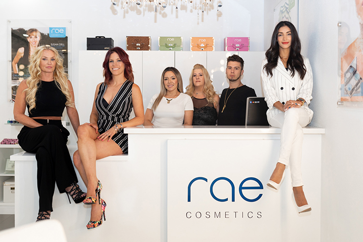 rae cosmetics team in studio
