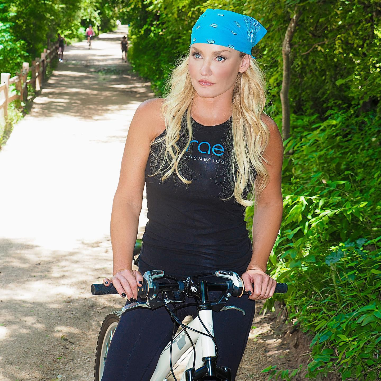 Rochelle the trail riding a bike